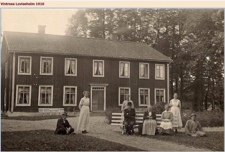Foto på gården Loviseholm 1910